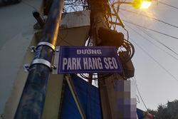 Người Sài Gòn ngỡ ngàng khi thấy tên đường Park Hang Seo