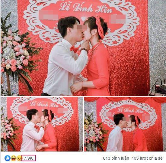 Dân mạng tranh cãi gắt hình ảnh chú rể trẻ hôn như muốn cắn đứt môi của cô dâu-1