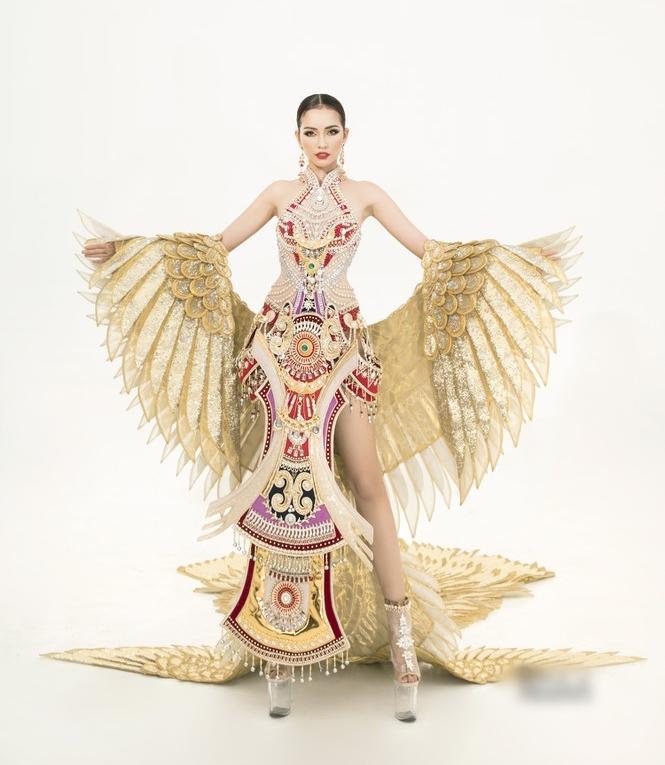 Sau lùm xùm quỵt tiền, đổi nhà thiết kế ngay phút chót, Ngọc Châu khoe bộ trang phục dân tộc chính thức tại Miss Supranational 2019-1