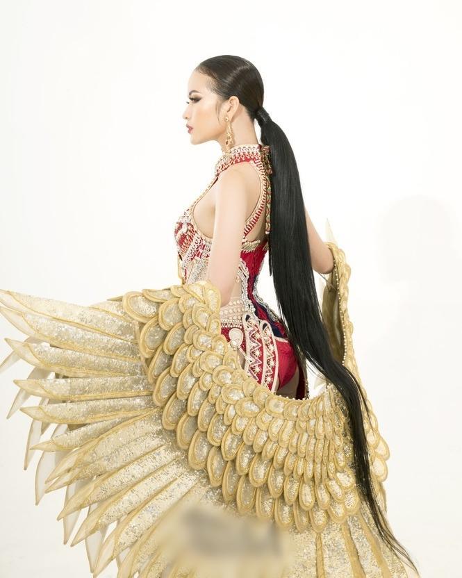 Sau lùm xùm quỵt tiền, đổi nhà thiết kế ngay phút chót, Ngọc Châu khoe bộ trang phục dân tộc chính thức tại Miss Supranational 2019-4