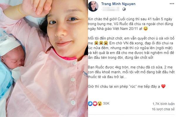MC Minh Trang khoe mặt mộc ngay khi sinh con lần 4, tiết lộ hậu trường lâm bồn làm ai cũng thương-2