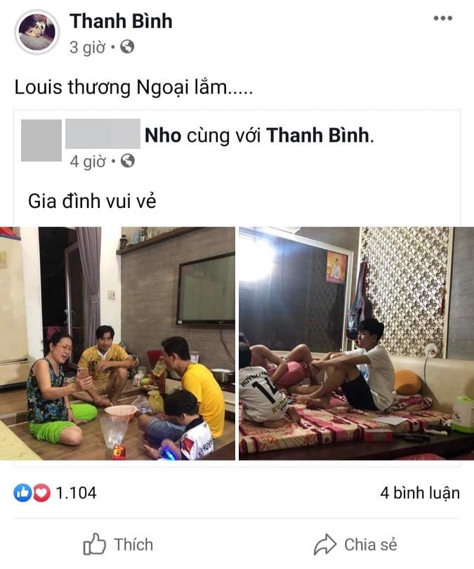 Dù đã ly hôn, Thanh Bình vẫn gọi mẫu thân Ngọc Lan là mẹ và đưa con trai về thăm ngoại-2