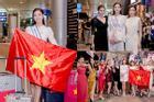 Dàn hoa hậu 'đổ bộ' sân bay lúc nửa đêm tiễn Lương Thùy Linh lên đường thi Miss World 2019