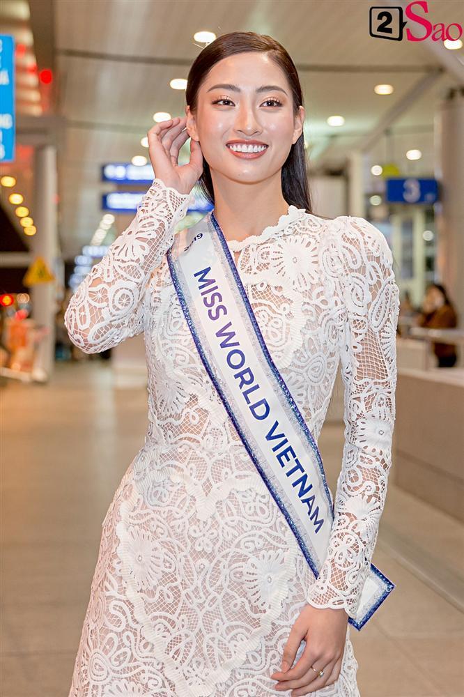 Dàn hoa hậu đổ bộ sân bay lúc nửa đêm tiễn Lương Thùy Linh lên đường thi Miss World 2019-2