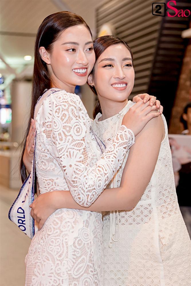 Dàn hoa hậu đổ bộ sân bay lúc nửa đêm tiễn Lương Thùy Linh lên đường thi Miss World 2019-5