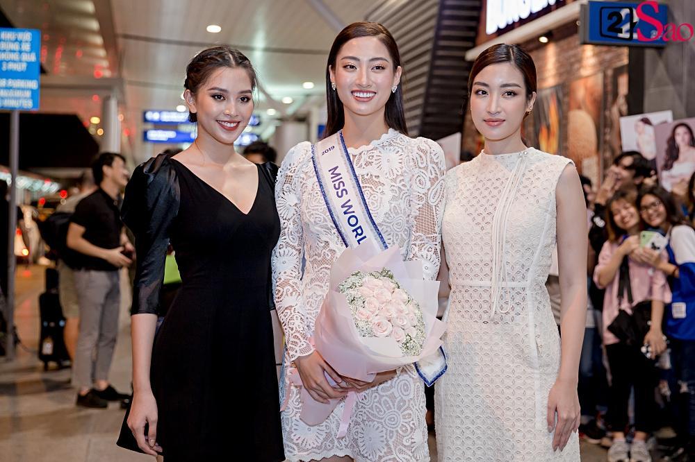 Dàn hoa hậu đổ bộ sân bay lúc nửa đêm tiễn Lương Thùy Linh lên đường thi Miss World 2019-6