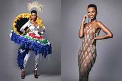 Đối thủ Hoàng Thùy mang trang phục dân tộc 'kịch độc' có 1-0-2 đến Miss Universe