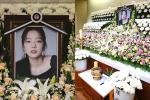 Lễ viếng ngập hoa trắng của Goo Hara