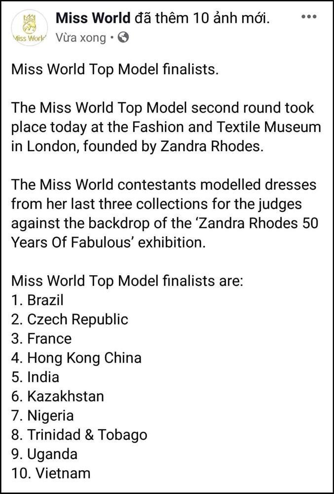 Vượt Lan Khuê lẫn Tiểu Vy, Lương Thùy Linh xuất sắc lọt top 10 Top Model tại Hoa hậu Thế giới 2019-1