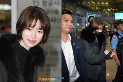 'Nữ hoàng cảnh nóng' Lim Ji Yeon đến sân bay Nội Bài vào tối muộn