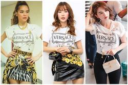 Cùng mặc một mẫu áo phông: Hồ Ngọc Hà, Minh Hằng, Ngọc Trinh ai là người cao tay phối đồ nhất?
