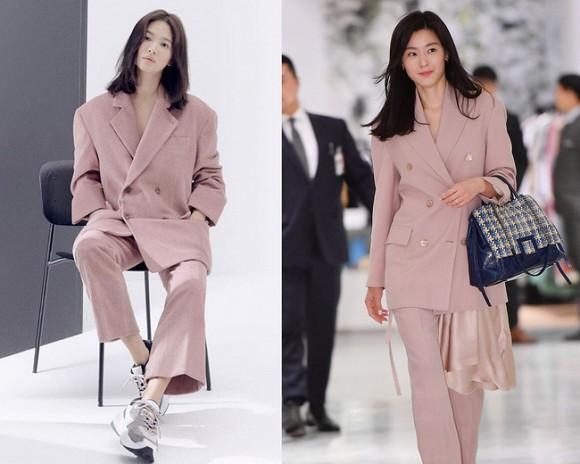 Jeon Ji Hyun và Song Hye Kyo hiếm lắm mới diện đồ na ná nhau: Mợ chảnh trẻ trung dù có 2 con, nhưng vẫn thua chị Song ở điểm này-5