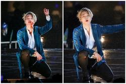 Jimin (BTS) ngã trầy chân, đổ máu khi nhảy dưới mưa vẫn nén đau cống hiến hết mình cho fan