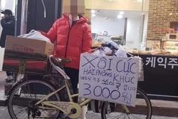 Bất ngờ chưa: Món ăn đường phố 'Xôi lạc - bánh khúc đây' xuất hiện ở Hàn Quốc với giá 59k/suất
