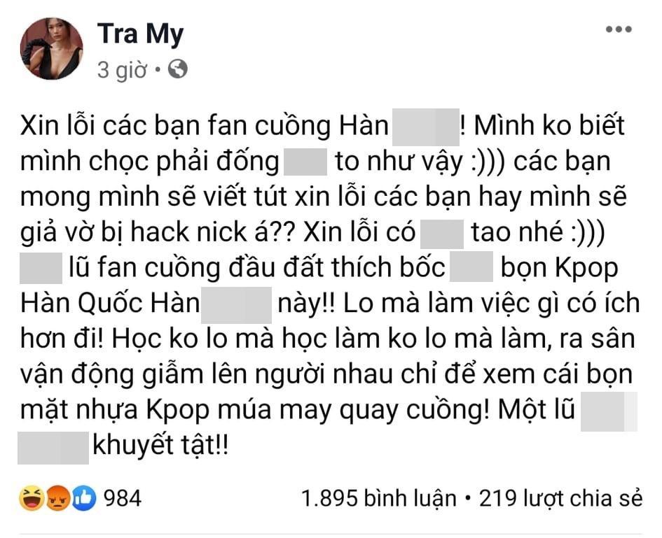 Nữ chính Thương nhớ ở ai đăng đàn chửi bới cộng đồng fan Kpop tại Việt Nam-3