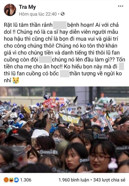 Nữ chính Thương nhớ ở ai đăng đàn chửi bới cộng đồng fan Kpop tại Việt Nam-2