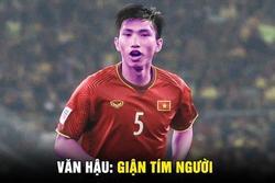 Ảnh chế Văn Hậu 'giận tím người' vì mất oan bàn thắng trận gặp U22 Lào