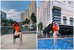 Diện bikini xẻ cao, Trà Ngọc Hằng biết cách tạo dáng bớt phản cảm hơn hàng loạt sao Hollywood