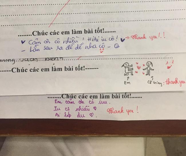 Trình nịnh cô của học sinh lên tầm vô cực: Bài kiểm tra cũng không tha, thả tim và nhắn nhủ ngọt ngào thế này-1
