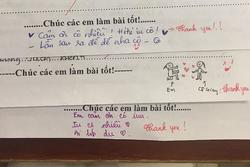 Trình 'nịnh' cô của học sinh lên tầm vô cực: Bài kiểm tra cũng không tha, thả tim và nhắn nhủ ngọt ngào thế này
