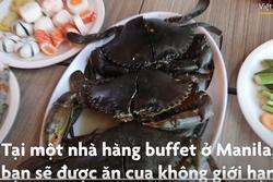 Tiệc buffet tôm, cua không giới hạn giá 15 USD ở Philippines