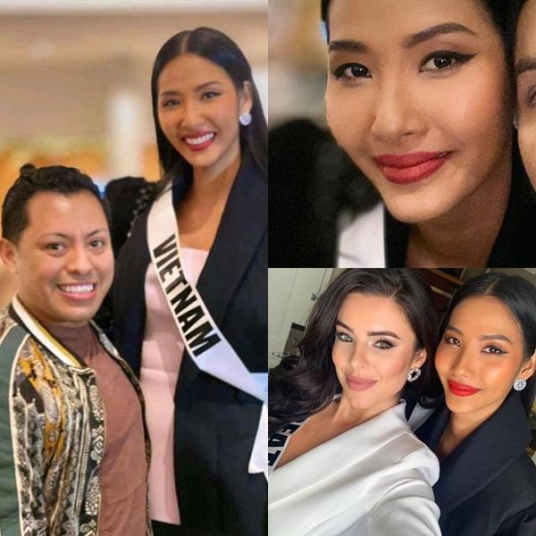 Ngày thứ hai tại Miss Universe 2019: Hoàng Thùy lộ vẻ nhợt nhạt, bị chê make-up không đẹp-5