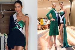 Miss Universe 2019 ngày thứ ba: Hoàng Thùy mặc đồ 2 trong 1, 'chặt đẹp' chiều cao hoa hậu Venezuela