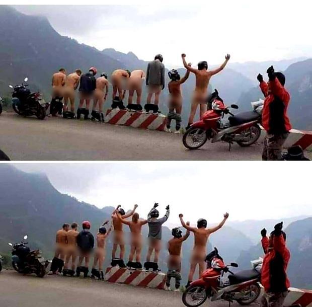 MXH dậy sóng trước hình ảnh nhóm khách du lịch tụt quần khoe vòng 3 phản cảm ở Hà Giang-2