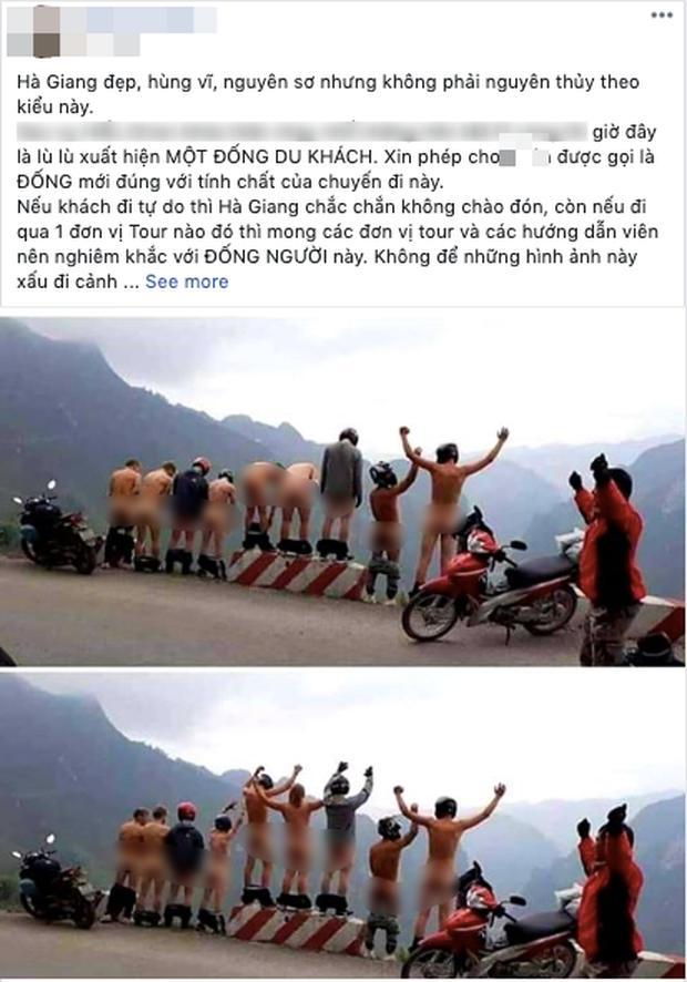 MXH dậy sóng trước hình ảnh nhóm khách du lịch tụt quần khoe vòng 3 phản cảm ở Hà Giang-1
