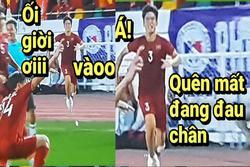Bị chấn thương vẫn tập tễnh chạy vào sân ăn mừng, Huỳnh Tấn Sinh làm fans Việt cười khỏi ngậm miệng