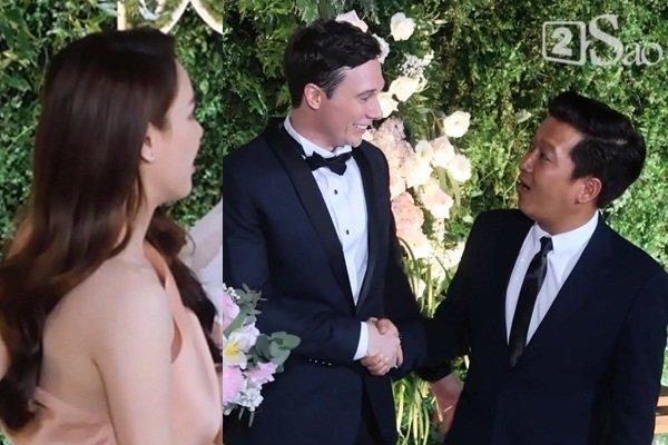 Đùa dai trong đám cưới đồng nghiệp: Trường Giang suýt thì lố, Hòa Minzy bị ném đá tới tấp-4