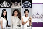 Ngắm nhìn vương miện Hoa hậu Hoàn vũ Việt Nam qua các năm