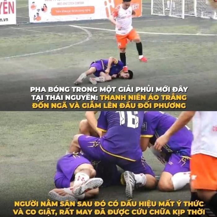 Cầu thủ dẫm chân lên mặt đối phương gây co giật đã xin lỗi, dân mạng vẫn tìm đến tận nhà đòi trả đũa-2
