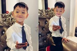 Khoe quý tử 4 tuổi diện sơ mi trắng, Trà My Idol bị 'cảnh báo'... sớm cực vì con