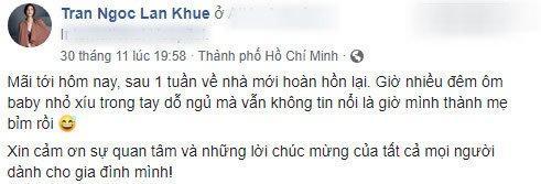 Cảnh bỉm sữa của Lan Khuê sau 1 tuần sinh: Cho con bú, áo xộc xệch chẳng kịp cài cúc-2