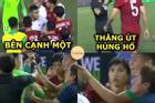Ảnh chế hai em út U22 Việt Nam phản ứng gắt ở trận gặp Indonesia