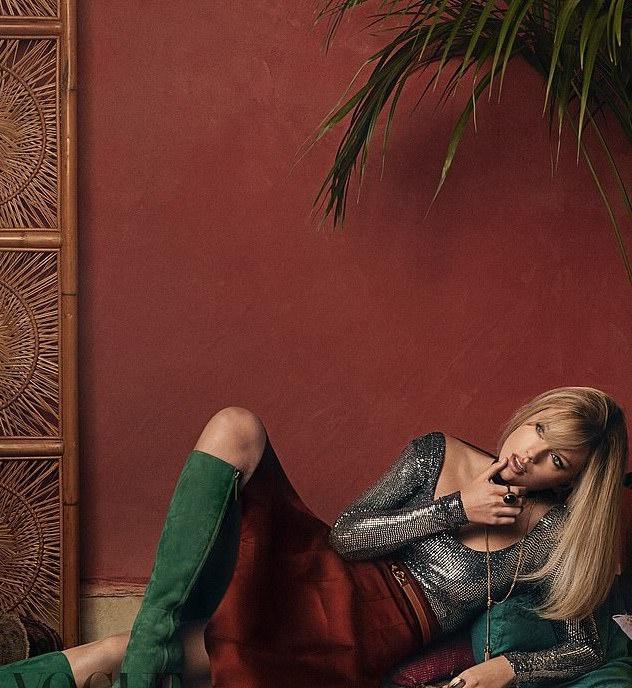 Taylor Swift trông khác lạ, diện toàn hàng hiệu trên tạp chí-2