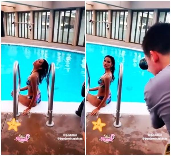 90 thí sinh Miss Universe 2019: chỉ 10 người chụp bikini, riêng mình Hoàng Thùy được BTC chia sẻ clip thả dáng ở bể bơi-2