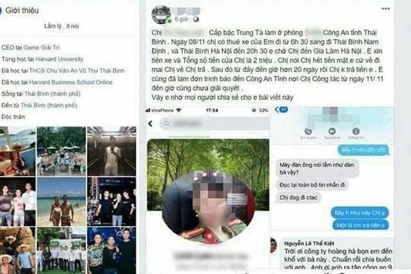 Xác minh nữ trung tá công an Thái Bình bị tố quỵt tiền lái xe-1