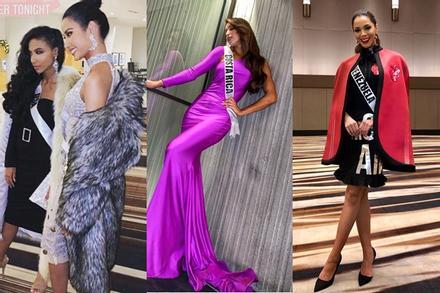 Miss Universe 2019 ngày thứ năm: Hoàng Thùy lên đồ kín đáo, dàn đối thủ ra sức 'lồng lộn'