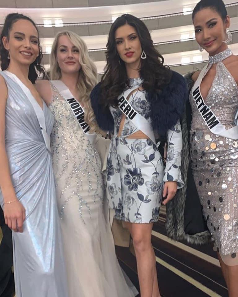 Miss Universe 2019 ngày thứ năm: Hoàng Thùy lên đồ kín đáo, dàn đối thủ ra sức lồng lộn-2