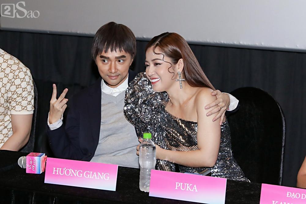 Hương Giang trở lại làm đàn ông và hôn bạn đồng giới ngay tại sự kiện ra mắt phim-8