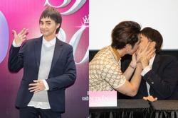 Hương Giang trở lại làm đàn ông và hôn bạn 'đồng giới' ngay tại sự kiện ra mắt phim