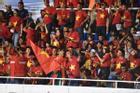Không khí náo nhiệt trên khán đài trận U22 Việt Nam