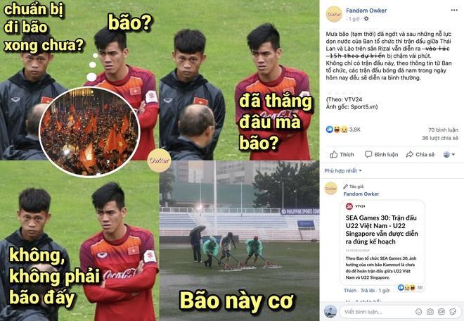 CĐV lo lắng mưa lớn ảnh hưởng đến lối chơi của U22 Việt Nam-1