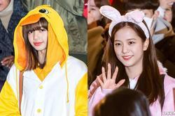 Lisa và Ji Soo (Black Pink) cosplay thành thỏ và vịt ra sân bay