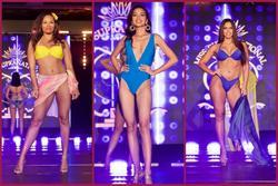 Ngọc Châu gầy gò trong phần thi áo tắm tại Bán kết Miss Supranational 2019