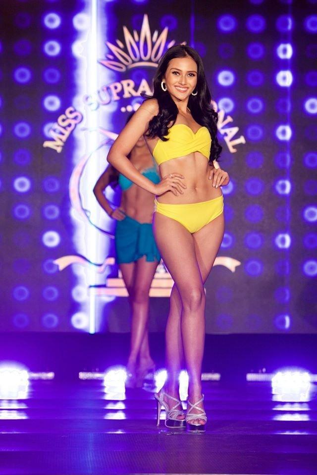 Ngọc Châu gầy gò trong phần thi áo tắm tại Bán kết Miss Supranational 2019-9
