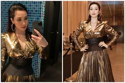Giữa ồn ào sinh con, Hòa Minzy khoe vòng 1 'khủng' đúng kiểu 'mẹ bỉm sữa' khi dự show thời trang