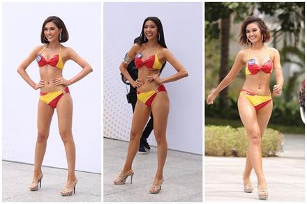 Thí sinh Hoa hậu Hoàn vũ Việt Nam 2019 thi 'Người đẹp biển': Chiến thắng gọi tên ai?